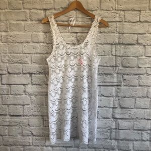 Victoria's Secret White lace/ crochet Cover Up